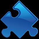 puzzlestuk-donkerblauw