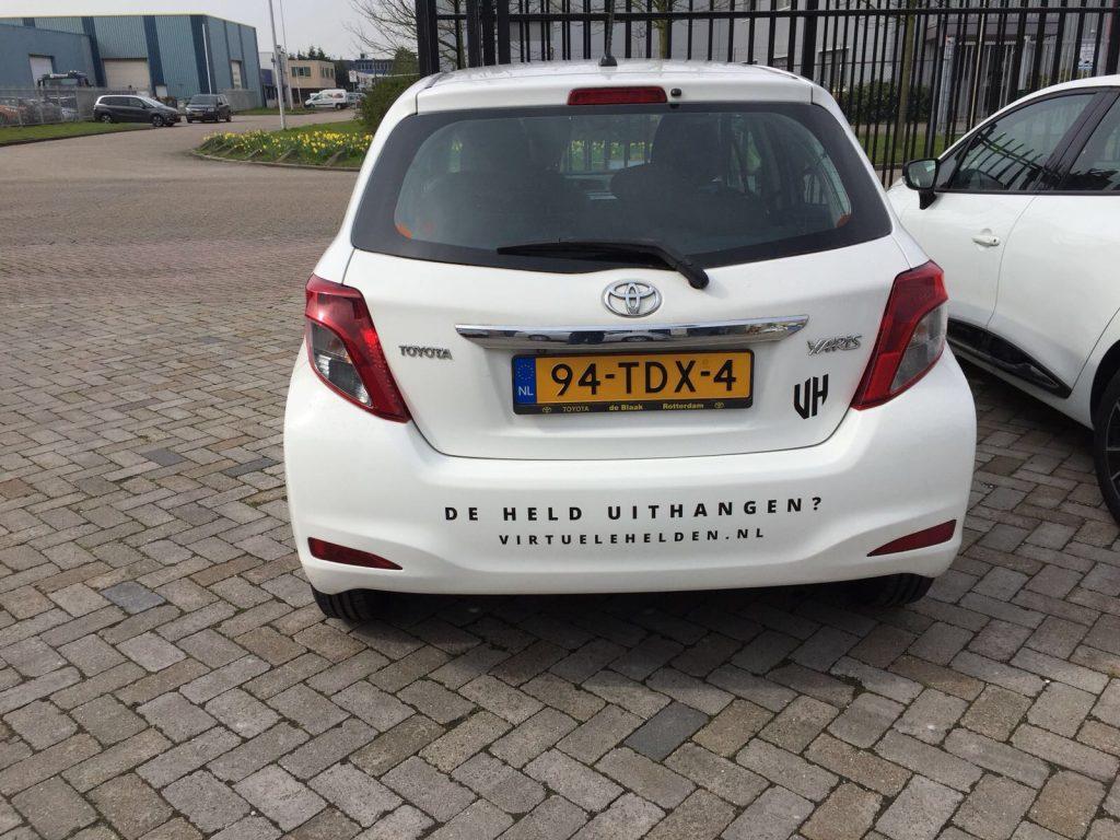 beletteren auto Virtuele Helden4